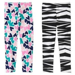 Gymboree Girls Size 8 Long Leggings Bundle Lot NWT
